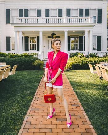 Стильные образы в розовом цвете