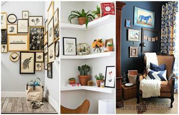 Чем занять пустой угол: 12 проверенных решений для больших и маленьких комнат