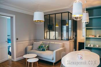Компактная квартира молодой семьи в Париже
