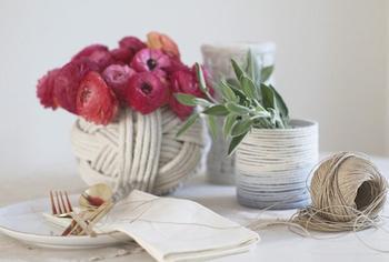 Мастерим вазы из верёвки в морском стиле