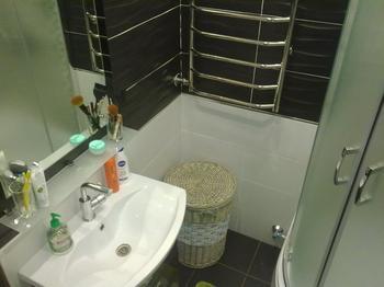Ванная: лаконичный мужской интерьер