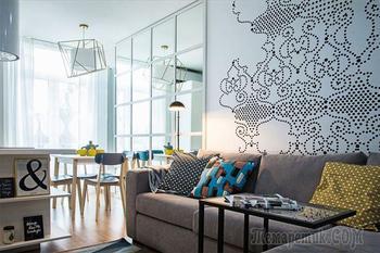 Скандинавский дизайн двухкомнатной квартиры 43 кв.м