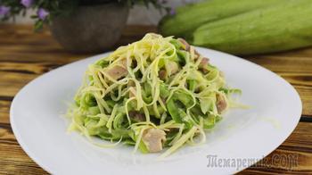 Так кабачки Вы еще не готовили - спагетти из кабачков. Видео-рецепт