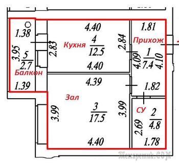 Предложите перепланировку однокомнатной квартиры