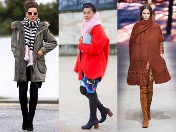 Как красиво носить шарф с пуховиком