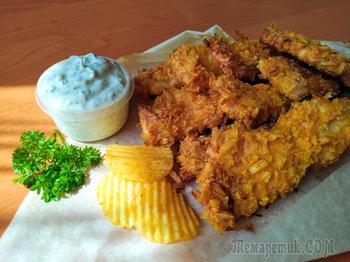 Без фритюра! Куриные стрипсы в домашних условиях, вкуснее, чем в KFC!!!