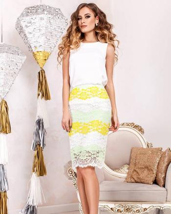 Женственные примеры как носить кружевную юбку