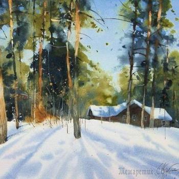 """Сергей Курбатов.Акварели на бумаге """"Много воздуха, солнца и тепла..."""""""