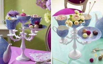 Идеи для декоративных вазочек из старых чашек