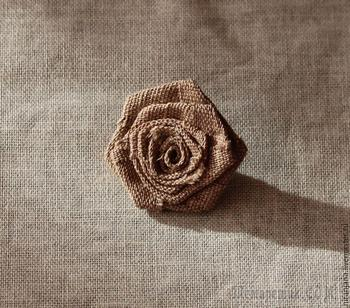 Мастерим розочку из ткани