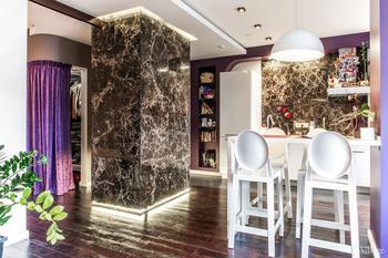 Яркая квартира-студия в стиле ар-деко в «Доме на Беговой»