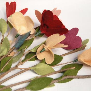 Цветы из войлока своими руками