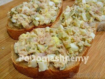 Намазка на хлеб из тунца