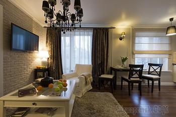 Современная квартира в Москве 56 кв. м