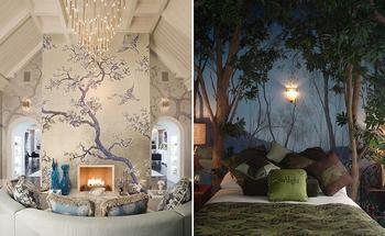 Дерево на стене: 19 интересных идей для украшения интерьера
