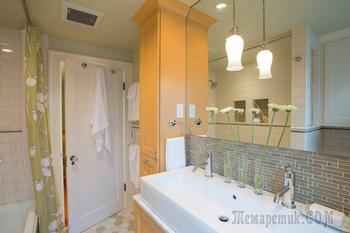 Небольшая ванная комната: 100 идей оптимизации пространства