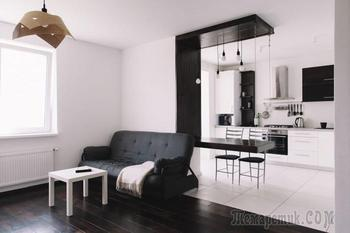 Квартира в черно-белом цвете 50 кв. м.
