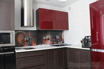 Кухня: винный цвет для мужчины