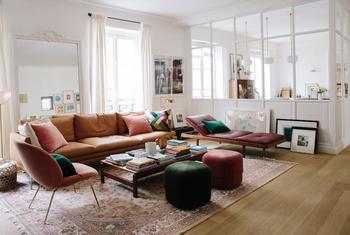 Карамельная экзотика – интерьер квартиры для творческой личности в Париже