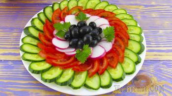 2 идеи овощных нарезок! Легко, просто и красиво!