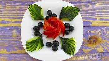 Овощные нарезки на праздничный стол! 2 идеи овощных тарелок!