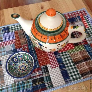 Салфетка на стол, или как утилизировать обрезки тканей с пользой