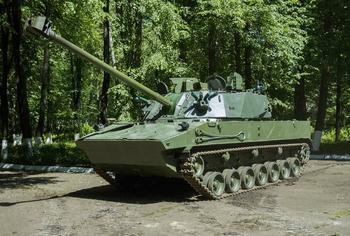 Самоходное артиллерийское орудие «Лотос», перед испытаниями и доводкой