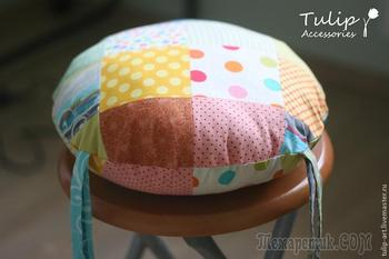 Мастер-класс: подушка-сидушка лоскутная