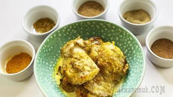 Курица карри с кокосовым молоком, не острый рецепт