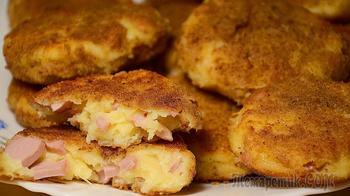 Котлеты из сыра и сосисок. Вкусная закуска за 15 минут!