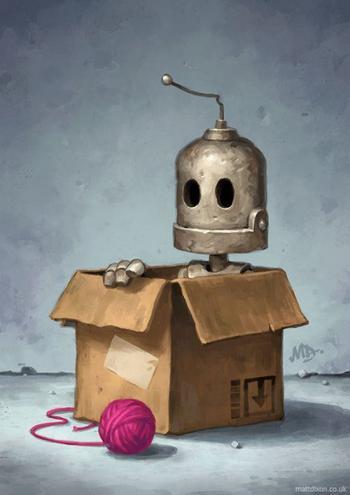 Милые роботы от Мэтта Диксона