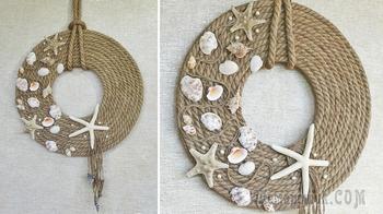 Идея декора из джутового каната. Декор своими руками