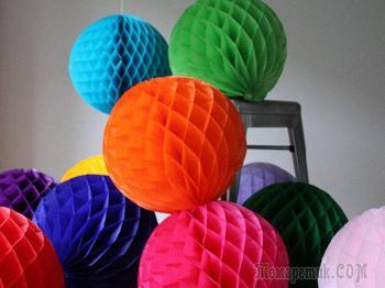 Китайские шары из бумаги, крепированной бумаги, шары-соты своими руками