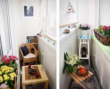 20 очаровательных идей, как стильно обустроить балкон