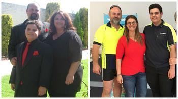 Семья из Австралии, похудевшая на 125 кг
