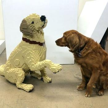 Скульптуры из конструктора LEGO