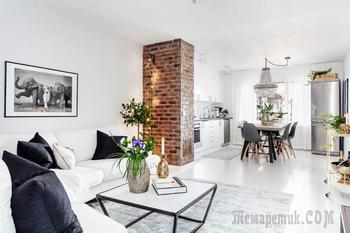Гармоничный интерьер квартиры в скандинавском стиле (69 кв.м)