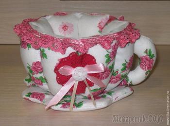 Как сшить текстильную чашку