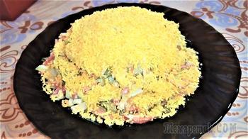 """Салат """"Соломка"""" Сытный и яркий салат из доступных продуктов порадует вас своим вкусом!"""