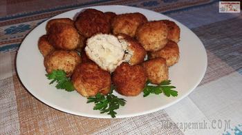 Куриные шарики с сыром Моцарелла
