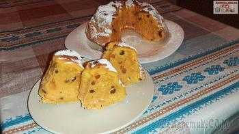 Тыквенный кекс с изюмом