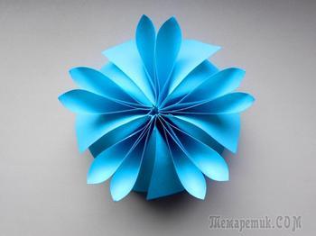Оригинальный и простой цветок из бумаги для декорирования подарков