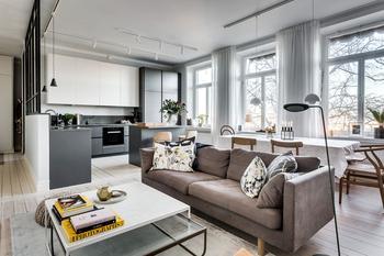 Когда пространство удачно спланировано — квартира в Швеции