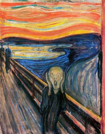 Вопреки широко распространённому мнению, самая известная работа Мунка изображает не кричащего человека, а человека, слышащего крик