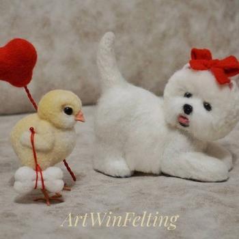 Войлочные животные от Ирины Артвин