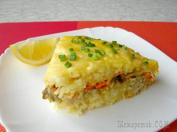 Рыбная запеканка на семейный обед - вкусно, сытно и готовить просто!