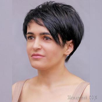 20 шикарных стрижек на короткие волосы для дам 40-50 лет: вид сзади
