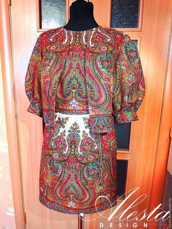 Как сшить платье и накидку из двух платков