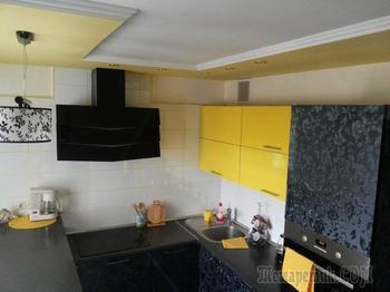"""Моя кухня: 10 """"квадратов"""", желтый цвет и барная стойка"""