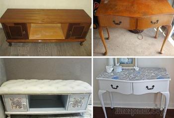 Функциональные варианты, как эффектно переделать старую советскую мебель